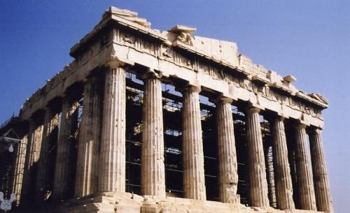 Fachada del Partenón en Grecia