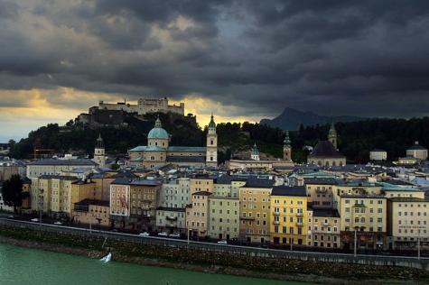 Una vista de la zona antigua de Salzburgo