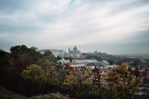 Una vista de Madrid desde el parque Oeste