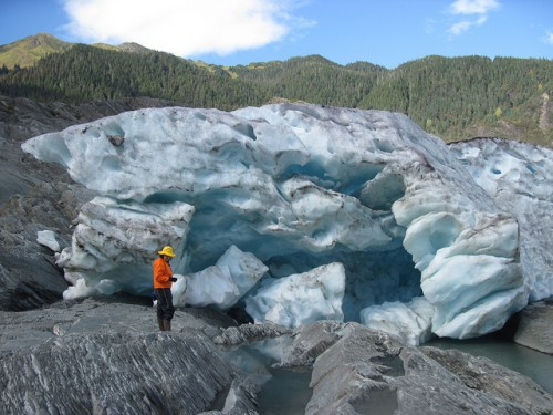Exterior del glaciar