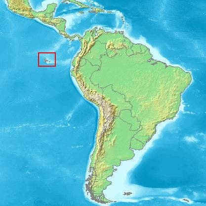 Ubicación de las Islas Galápagos