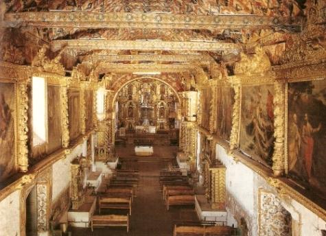 Interior barroco de la iglesia de Andahuaylillas