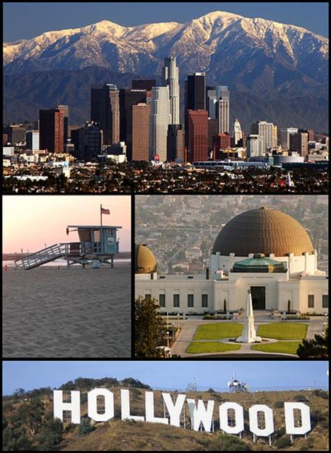 Varias vistas de la ciudad de Los Angeles