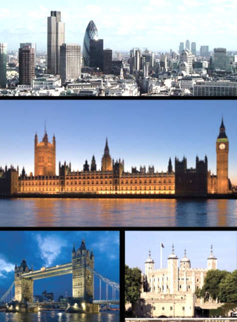 Varias vistas de la ciudad de Londres