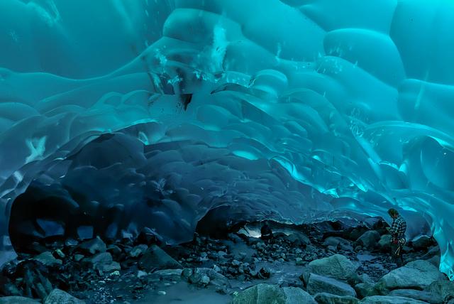 Glaciar mendenhall desde su interior